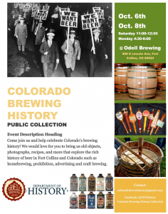 Colorado Brewing History Collection Event