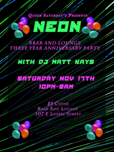 RBar and Lounge Neon Event