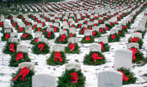Arlington Cemetery at Christmas time