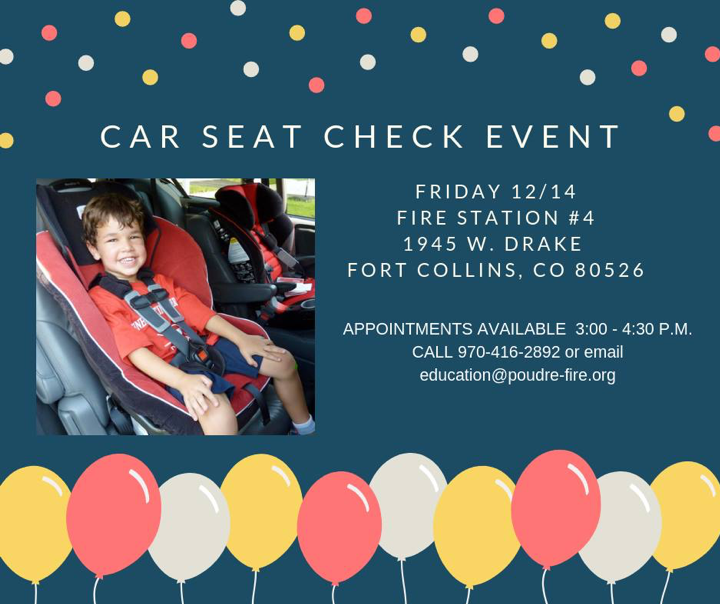 Car seat check in event