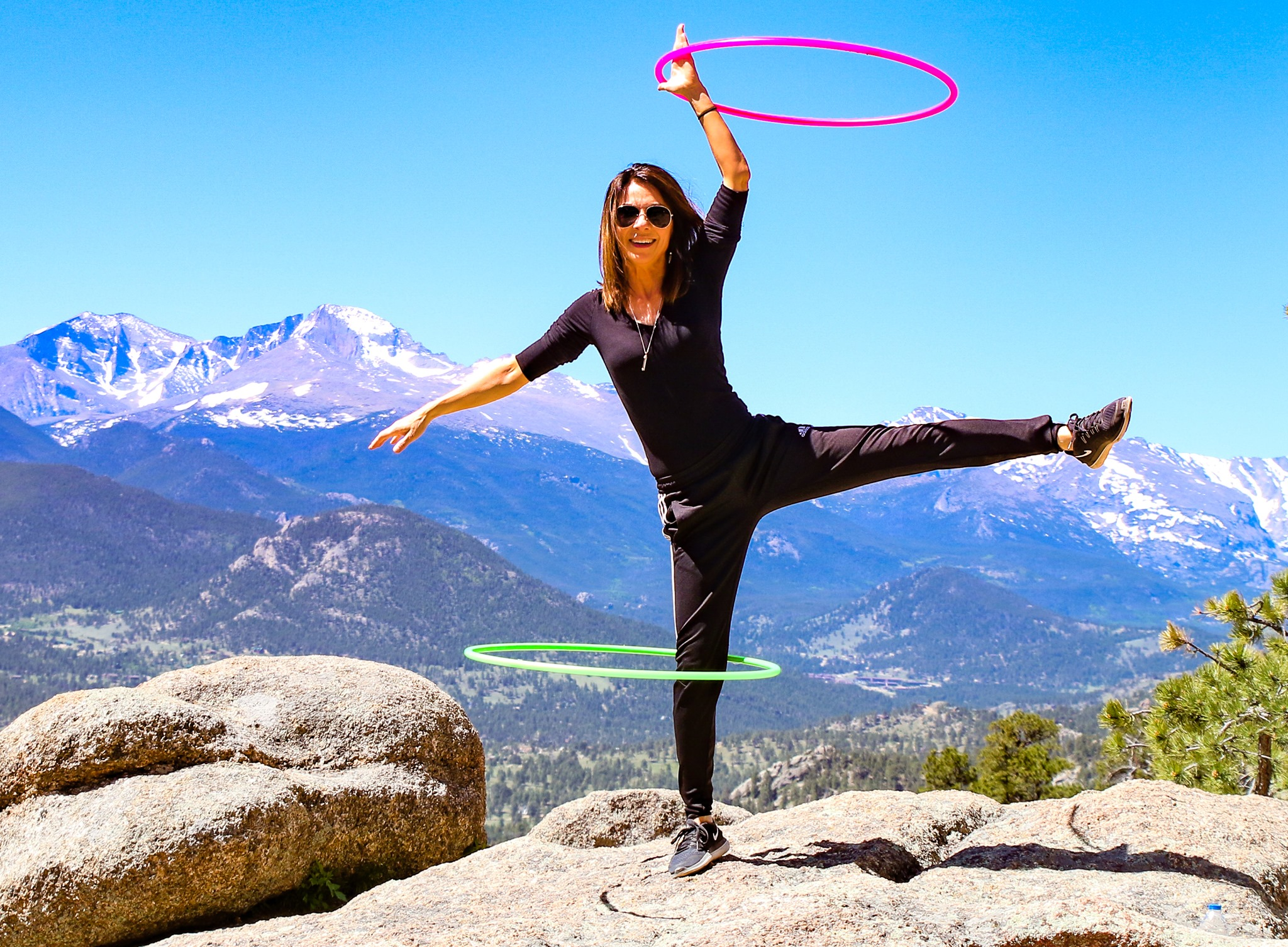 hula hooping with lindy